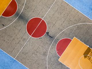 Outdoor basketball court