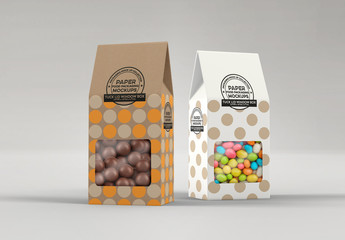 Tuck Lid Window Box Packaging Mockup