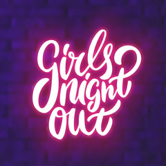 Girls night out. Bachelorette party vector banner.