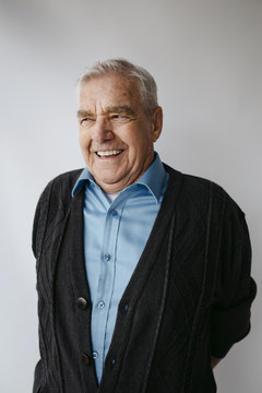 Senior smiling man