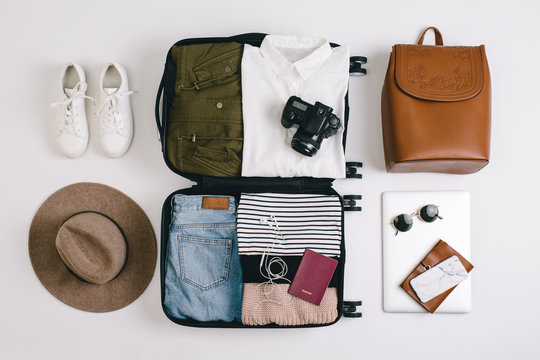 Packing for holiday.