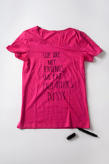 t-shirt of a lesbian woman for a gay pride
