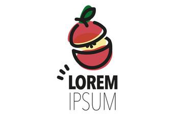 Apple Fruit Logo Vector