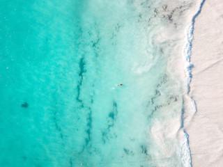 Turquoise water of coastline Tulum, Mexico Fototapete