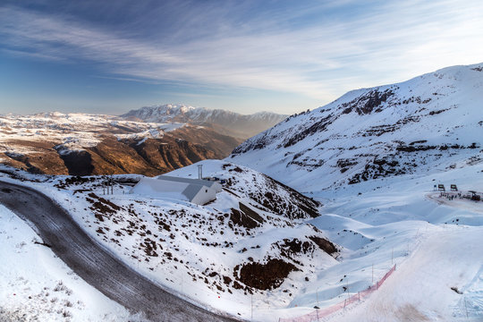 Mountains of Valle Nevado, Chile.