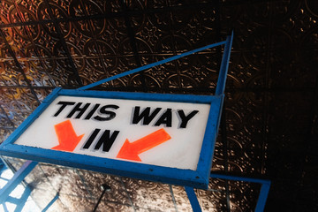 This way in