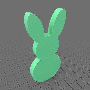 Small bunny statue