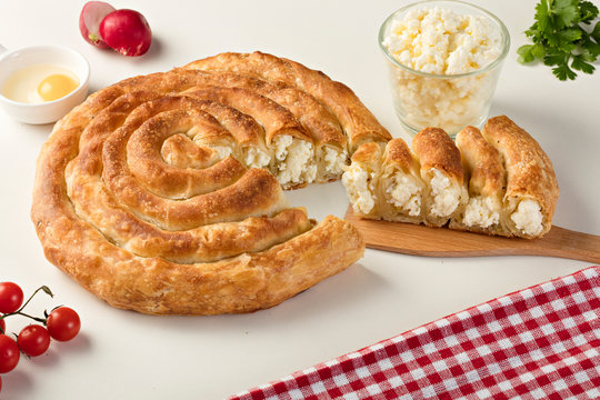 Bosnian pie with cheese