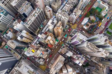 Wall Mural - Top view of Hong Kong building