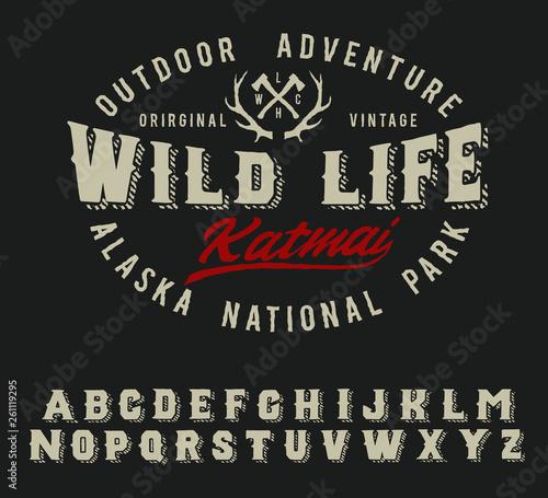 Wild life camp  Katmai national park  Original vintage