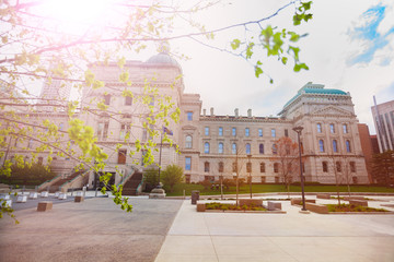 Indiana Capitol building in spring, Indianapolis