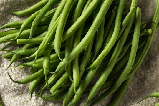 Raw Green Organic French String Beans