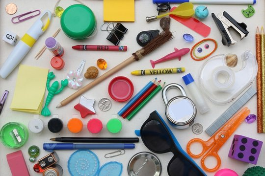 I spy game created from common household items