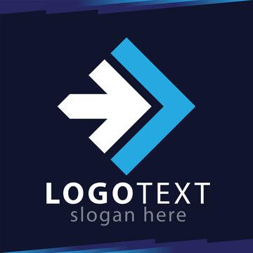 Right Arrow Logo Vector template