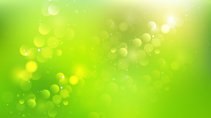 Abstract Green and Yellow Bokeh Defocused Lights Background Vector Image Wall mural