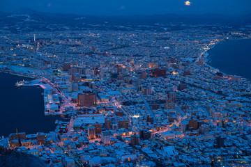 Wall Mural - 函館山より冬の函館夜景
