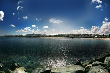 Fototapeta Playa de las Cucharas Costa Teguise Lanzarote obraz