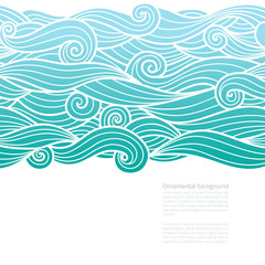 Waves pattern design with copy space