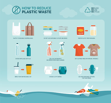 Tips to reduce plastic waste and plastic pollution