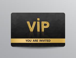 Golden VIP card