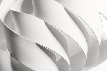 Creative image with curved elements, abstract.