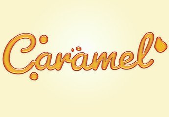 Caramel Liquid Text Effect