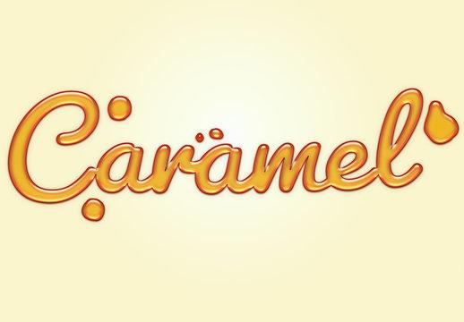 Caramel Liquid Text Effect