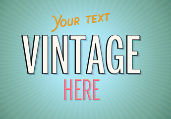 Vintage Pop Art Text Effect