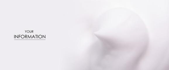 Obraz White foam macro clean beauty care texture pattern nature background - fototapety do salonu