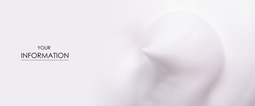 White foam macro clean beauty care texture pattern nature background