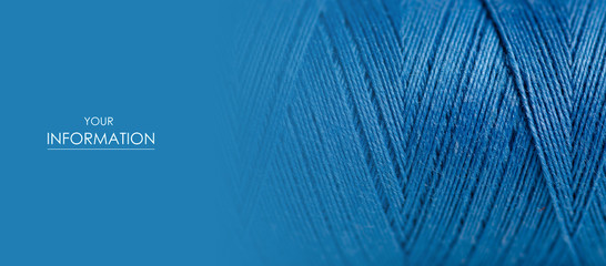 Blue thread macro background clothing sewing material pattern