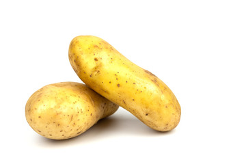 potato isolated on the white background.