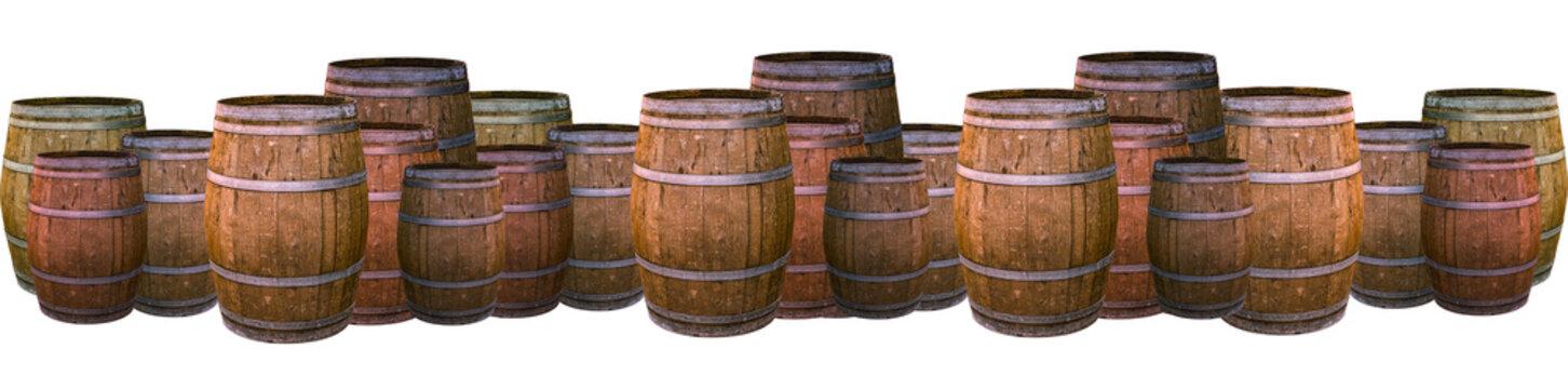 oak barrel large wine old aging wine port wine giving flavor tra