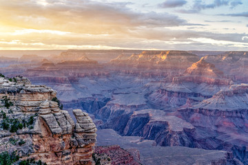 Hot & Cold: South Rim Sunset