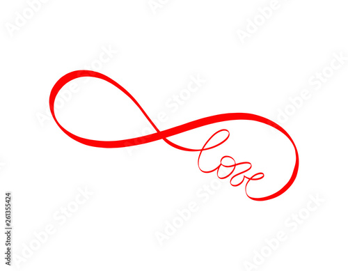 Abstract love sign  Endless love lettering  Vector