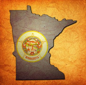 Minnesota state with flag