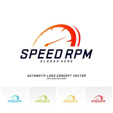 Speed logo design vector. Fast Speedometer logo design template. icon symbol