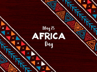 Africa Day card of traditional african art