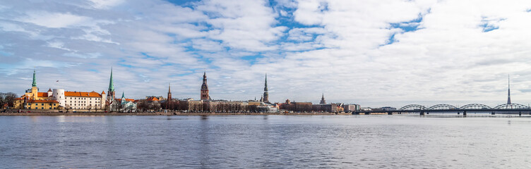 Wall Mural - Riga, Latvia - panoramic view of the historical center of the city of Riga