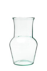 glassware on white background