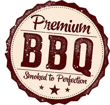 Vintage Style Barbecue Meats Sign for Restaurant