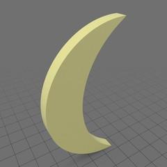 Crescent moon symbol