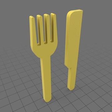 Knife and fork symbol