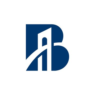 LETTER B BRIDGE LOGO