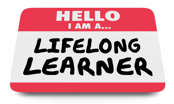 Lifelong Learner Always Education Name Tag Sticker 3d Illustration