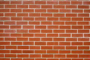 facade view of red brick wall background