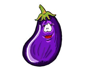 Eggplant cartoon color