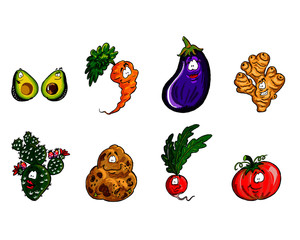 Veggie Friends Vector 01