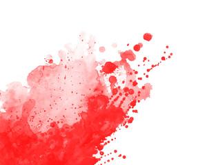 Obraz Tapeta czerwona farba na białym tle - fototapety do salonu
