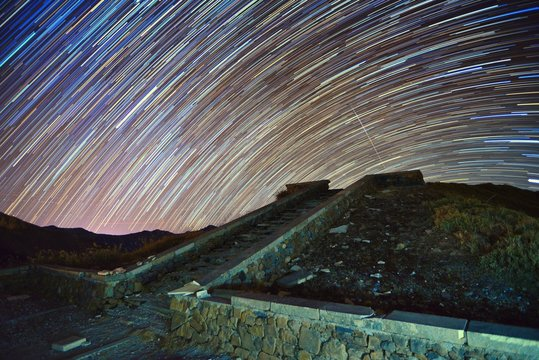Star trails at Mountain Hehuan, Taiwan